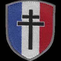 Patch écusson Blason Croix Lorraine brodée