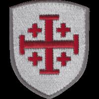 Patch Ecusson Blason Croix de Jérusalem brodée