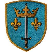 Blason Jeanne d'arc brodé