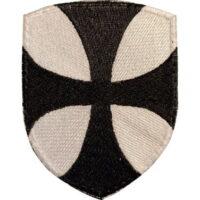 Patch Blason Croix Pathée Templiers Noire