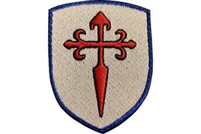 Blason Ecusson Patch Croix Saint Jacques brodée