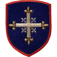 Ecusson Patch Blason des mousquetaires brodé