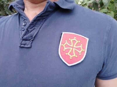 Polo avec Croix d'Oc - Occitanie brodé en France