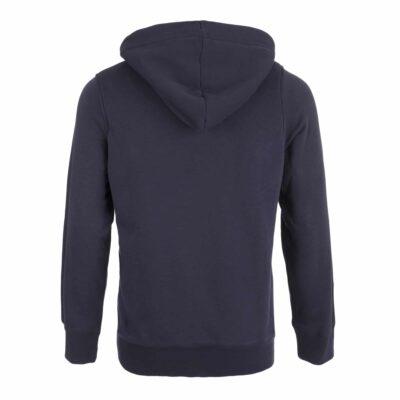 Sweatshirt fourré bleu marine amalric pour blason brodé dos