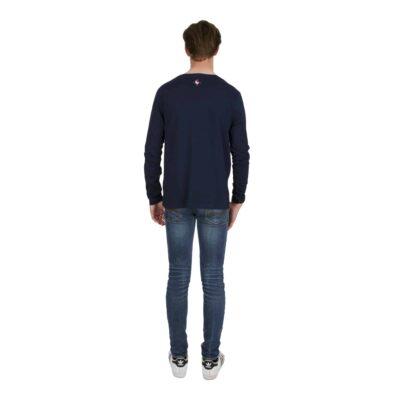 Tshirt dos bleu marine amalric pour blason amalric