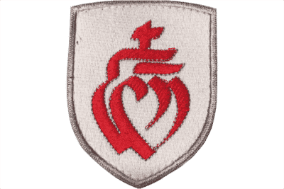 Ecusson coeur vendée brodé