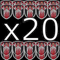 Production de votre blason brodé - Pack x20 exemplaires