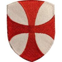 Ecusson Blason Croix des Templiers Rouge