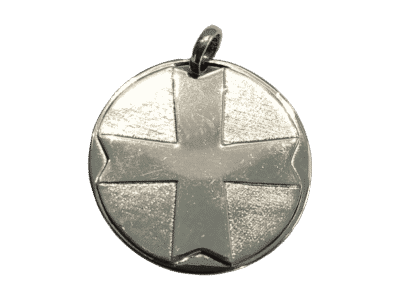 Medaille Saint Esprit dos croix 8 pointes argent