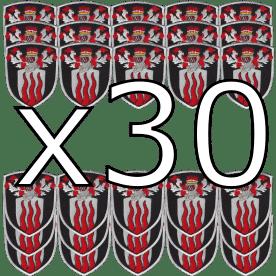 Production de votre blason brodé - Pack x30 exemplaires