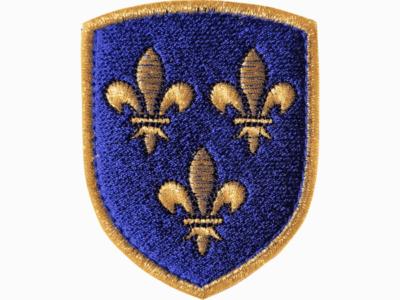 ecusson brodé royaume de france